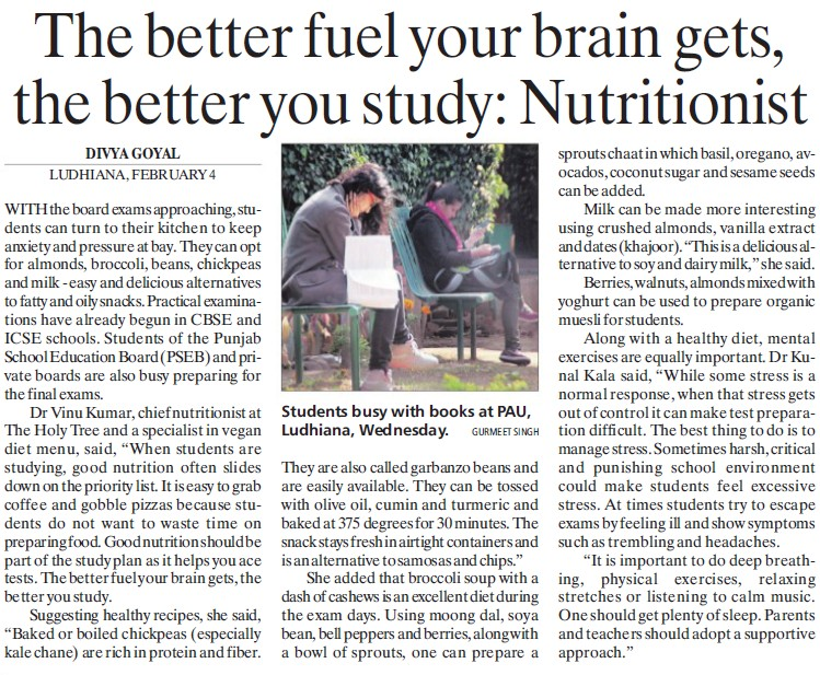 The better fuel your brain gets, the better you study (Punjab Agricultural University PAU)