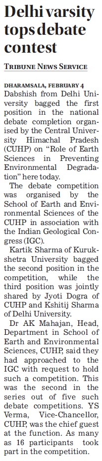 DU tops debate contest (Delhi University)