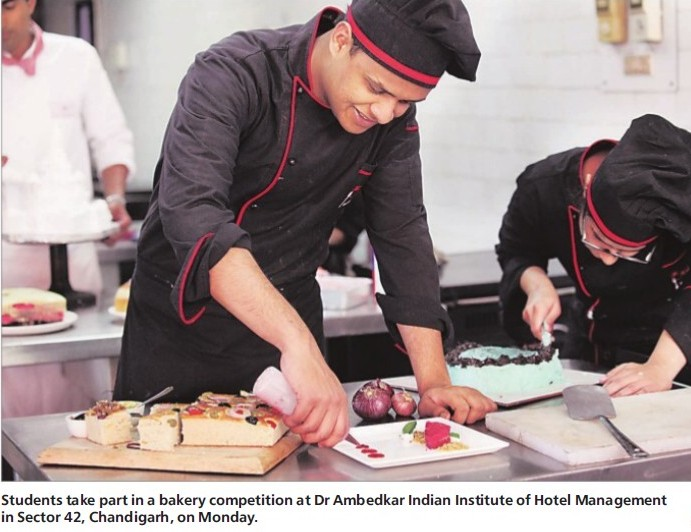 Students take part in bakery competition (Dr Ambedkar Institute of Hotel Management Catering and Nutrition)