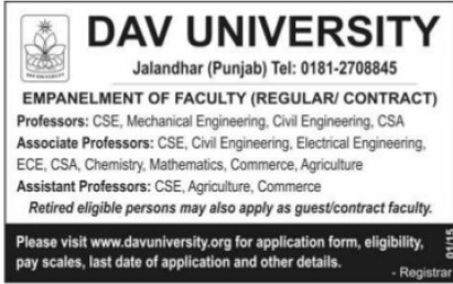 Associate Professor for Civil Engineering (DAV University)