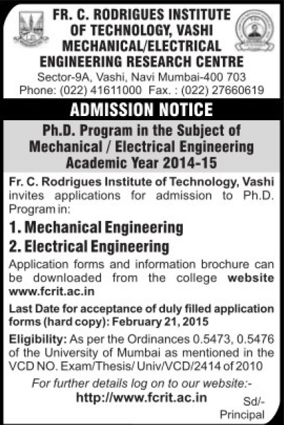 PhD Programme (Fr Conceicao Rodrigues Institute of Technology)