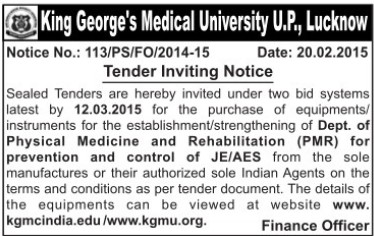 Supply of PNR Instruments (KG Medical University Chowk)