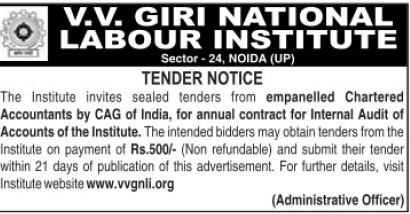 Audit of Accounts (VV Giri National Labour Institute (VVGNLI))