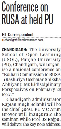 Conference on RUSA held (University School of Open Learning (USOL))