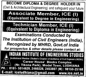 Associate Professor and Technician (Institution of Civil Engineers (India))