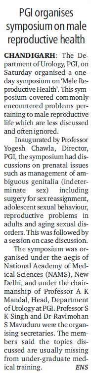 PGI organises symposium on male reproductive health (Post-Graduate Institute of Medical Education and Research (PGIMER))