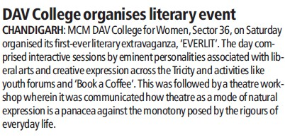 DAV College organises literary event (MCM DAV College for Women)