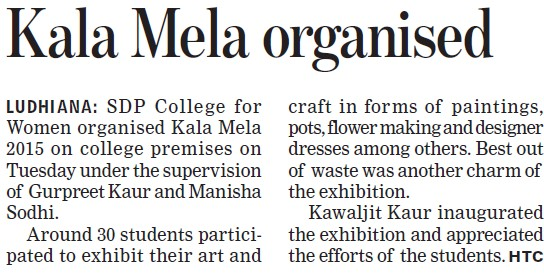 Kela Mela organised (SDP College for Women)