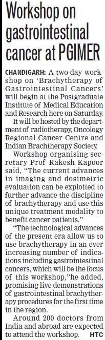 Workshop on Gastrointestinal cancer (Post-Graduate Institute of Medical Education and Research (PGIMER))