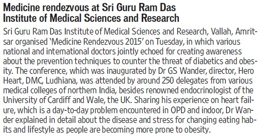 Medicine rendezvous at SGRDIMS (Sri Guru Ram Das Institute of Medical Sciences and Research)