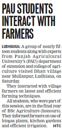 PAU students interact with farmers (Punjab Agricultural University PAU)