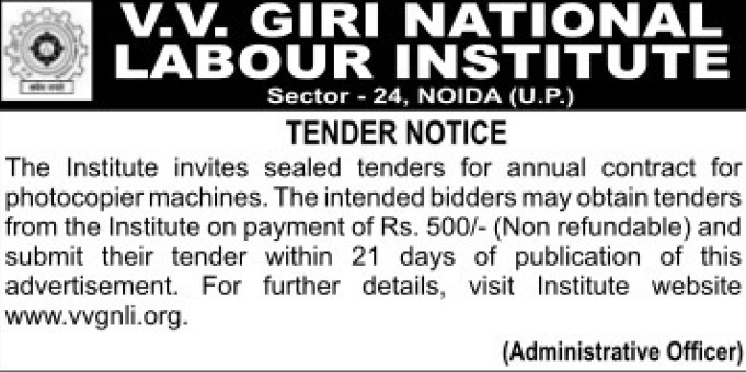 Supply of Photocopier machines (VV Giri National Labour Institute (VVGNLI))