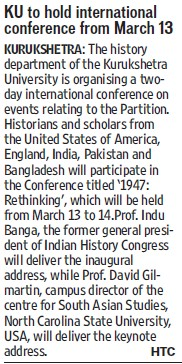 KU to hold International conference  from March 13 (Kurukshetra University)