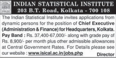 Chief Executive (Indian Statistical Institute)