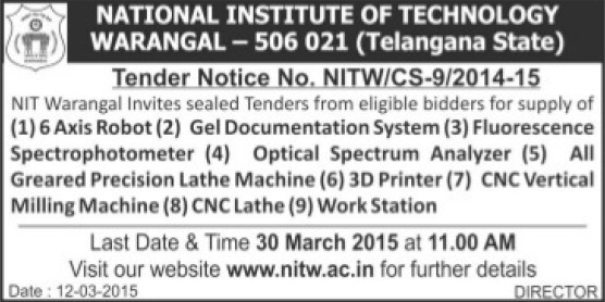 national institute of technology nit warangal telangana