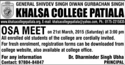 OSA MEET 2015 (Khalsa College)