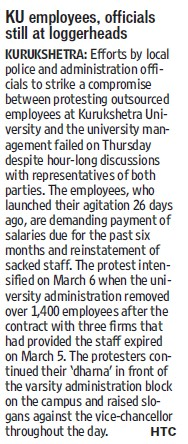 KU employees, officials still at loggerheads (Kurukshetra University)