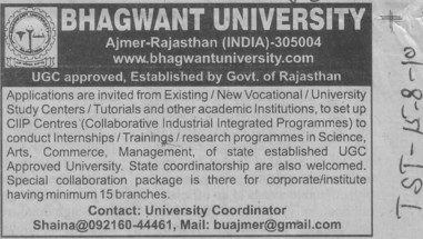 Training and Research Programme of Sciences (Bhagwant University)