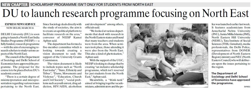 DU to launch programme focusing on North East (Delhi University)