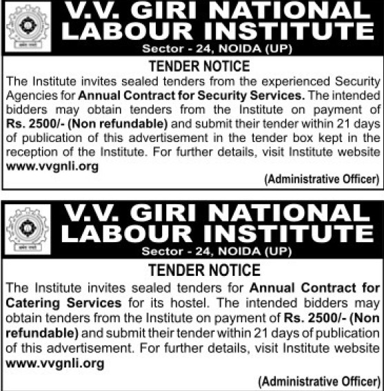 Catering Services for Hostel (VV Giri National Labour Institute (VVGNLI))