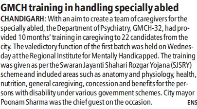GMCH training in handling specially abled (Government Medical College and Hospital (Sector 32))