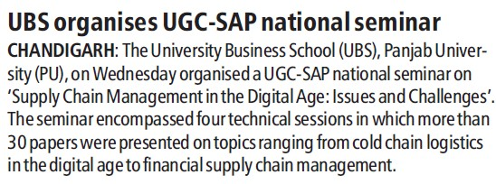 UBS organises UGC SAP national seminar (University Grants Commission (UGC))