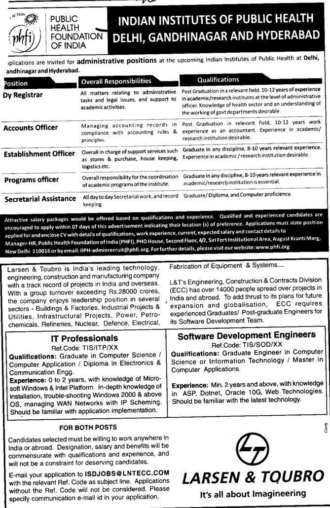 Deputy Registrar and Accounts Officer (Indian Institute of Public Administration (IIPA))