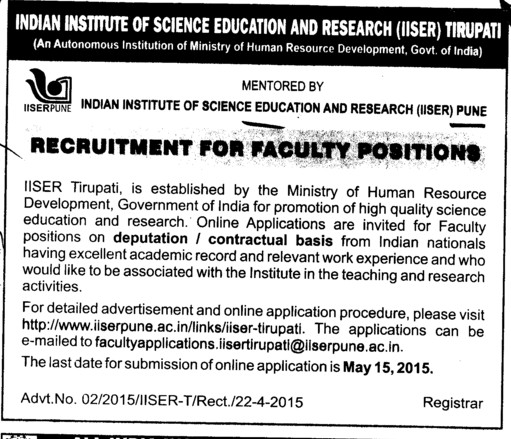 Indian Institute Of Science Education And Research Iiser