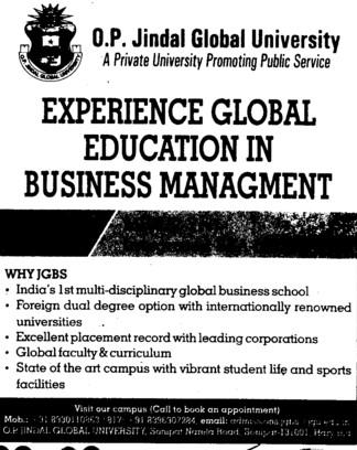 Global Education in Business Management (OP Jindal Global University)