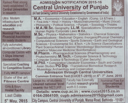 LLM in Human rights (Central University of Punjab)