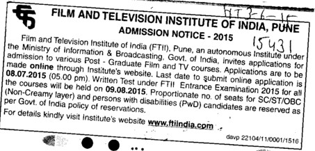 Graduate Film and TV course (Film and Television Institute of India)