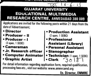 Director and Producer (Gujarat University)
