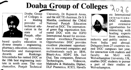 Profile of Doaba Group (Doaba Group of Colleges (DGC))