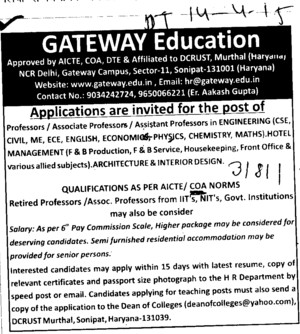 Associate Professor for Computer Engineering (Gateway College of Architecture and Design)