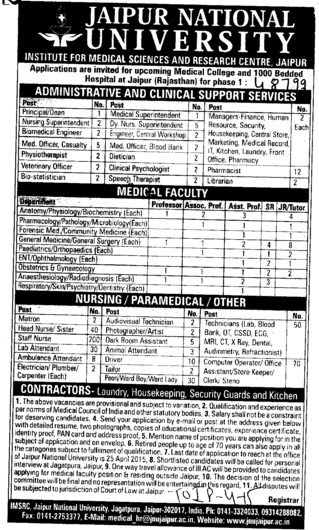 Veterinary Officer (Jaipur National University)