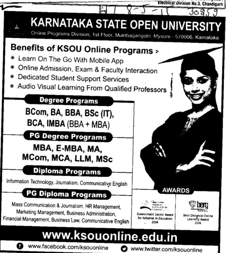 BBA and BCA (Karnataka State Open University KSOU)