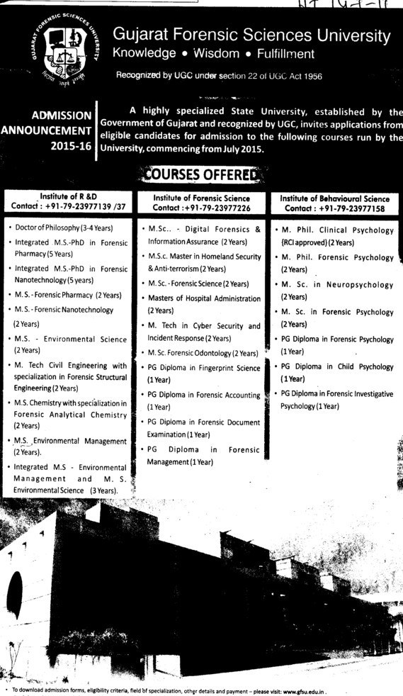 MSc in Digital Forensic (Gujarat Forensic Sciences University)