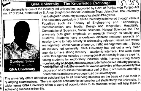 Industry led university (GNA University)