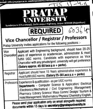 Vice Chancellor (Pratap University)