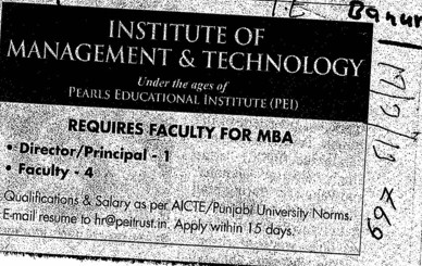Director and Principal (Dr IT Institute of Management and Technology)