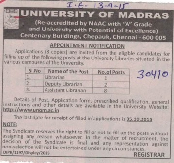 Librarian (University of Madras)
