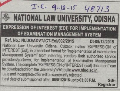 Implementation of Examination Management System (National Law University)