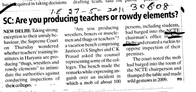Are you producing teachers or rowdy elements (National Council for Teacher Education NCTE)