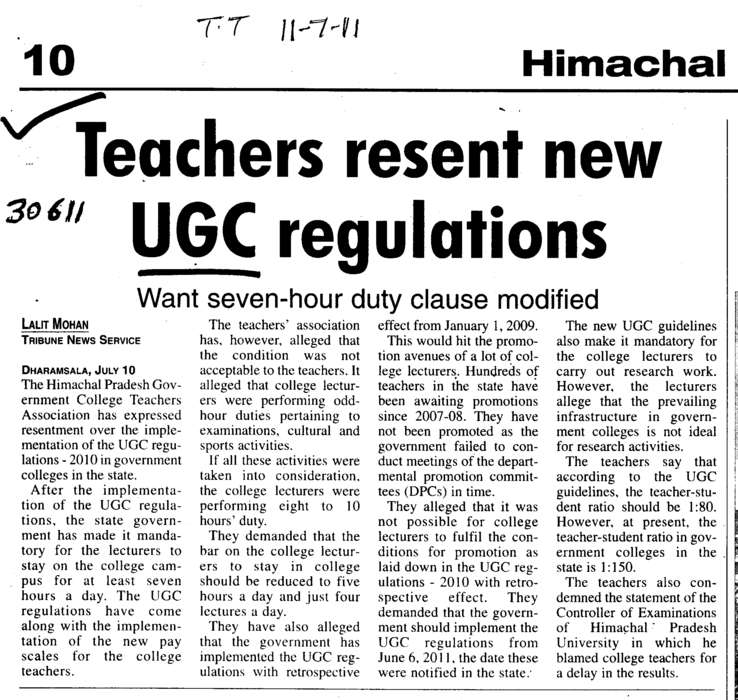 Teachers resent new UGC regulations (University Grants Commission (UGC))