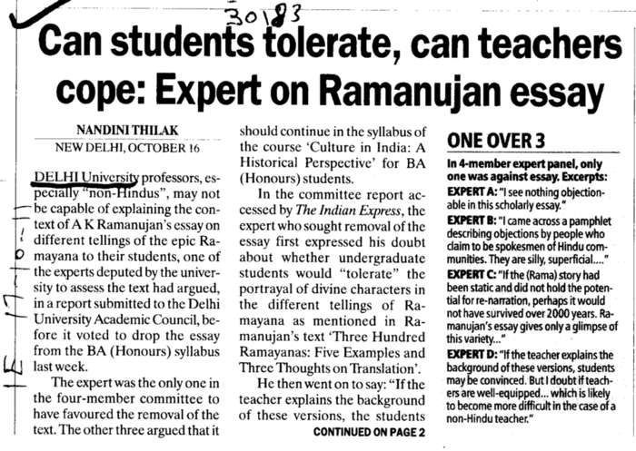 Can Students tolerate can Teachers cope (Delhi University)