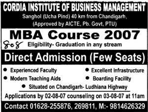 MBA Courses (Cordia Institute of Business Management)