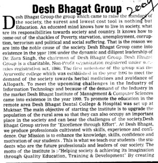 Achieving its imagination through quality Education (Desh Bhagat Group of Institutes)