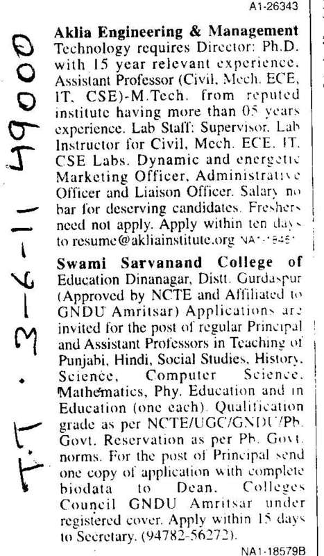 Assistant Professors and Lab Staff (Aklia Institute of Engineering and Technology)