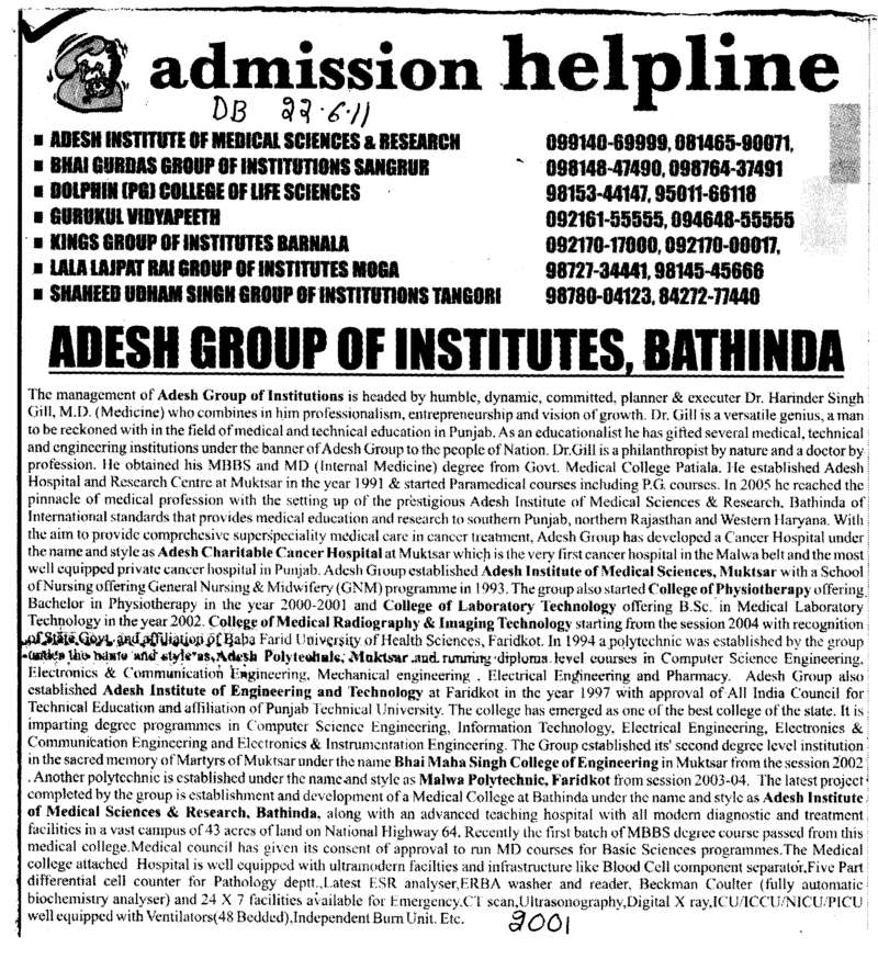 Best Education (Adesh Group of Institutions)