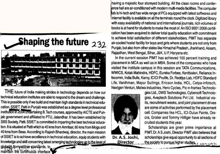 Shaping The Future (Shiv Shankar Institute of Engineering and Technology (SSIET))